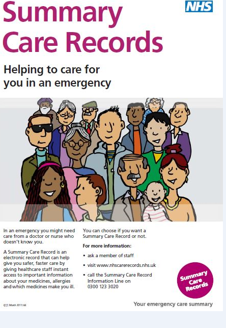poster- Summary Care Record